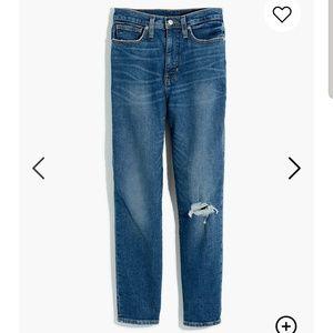 Madewell Mom Jeans in Ellwyn Wash, Comfort Stretch